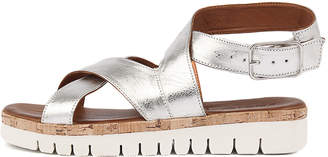 Inuovo 7930 Silver Sandals Womens Shoes Casual Sandals-flat Sandals