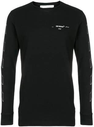 Off-White 3D print long-sleeve T-shirt