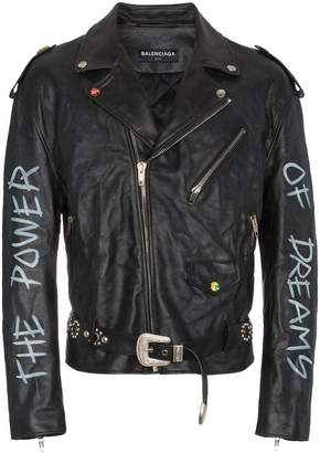 Balenciaga The Power of Dreams leather jacket