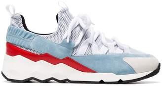 Pierre Hardy Blue and White Trek Comet Sneakers