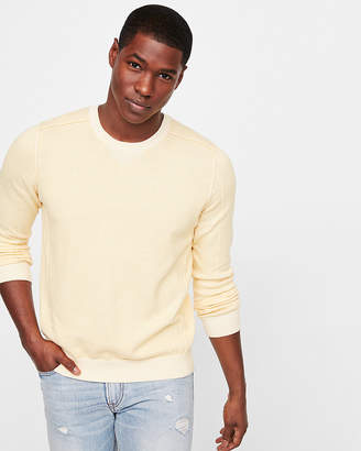 Express Detailed Crew Neck Sweater