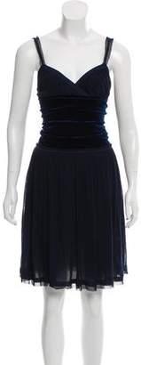 Fuzzi Sleeveless Mesh Dress