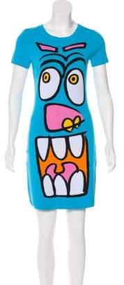 Jeremy Scott Intarsia Mini Dress w/ Tags