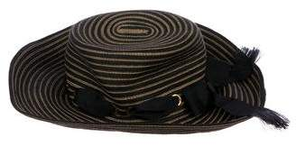 Eric Javits Striped Wide Brim Hat