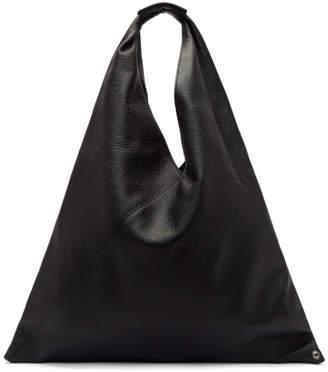 MM6 Maison Martin Margiela Black Leather Tote