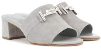 Tod's Double T suede sandals