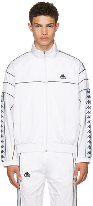 Kappa SSENSE Exclusive White Windbreaker Track Jacket $130 thestylecure.com