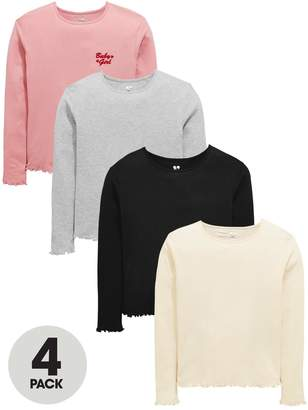 Very Girls 4 Pack Long Sleeve Frill Tops