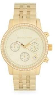 Michael Kors Goldtone Stainless Steel Chronograph Watch