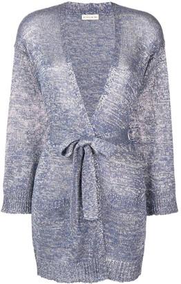 Etro lurex knit cardigan
