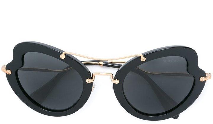 Miu MiuMiu Miu Eyewear oversized tinted sunglasses