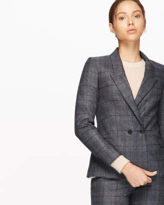 Jigsaw Prince Of Wales London Double Breasted Jacket