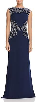 Tadashi Shoji Lace-Detail Gown $468 thestylecure.com