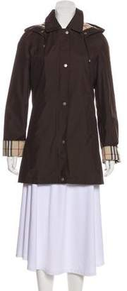 Burberry Girls' Hooded Wool Coat