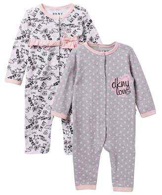 DKNY Shine Coveralls - Set of 2 (Baby Girls 0-9M)