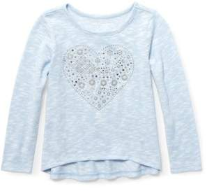 Children's Place The Long Sleeve Studded Graphic Sweater Knit Top (Toddler Girls)
