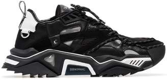 Calvin Klein black Strike 205 leather and suede trim sneakers