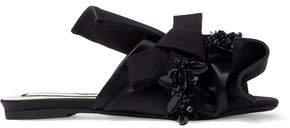 N°21 N21 Knotted Embellished Satin Slides