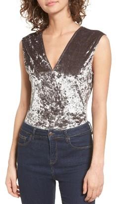 Women's Willow & Clay Velvet Burnout Bodysuit $59 thestylecure.com