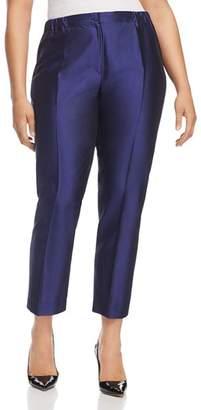 Marina Rinaldi Riflesso Cropped Silk Pants