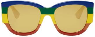 Gucci Multicolor Rainbow Sylvie Sunglasses