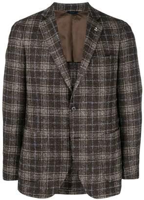 Tombolini check single-breasted blazer