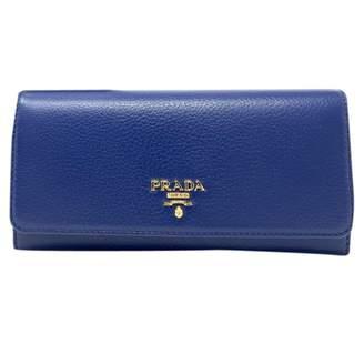 Prada Blue Leather Wallets