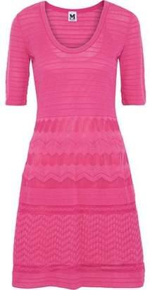 M Missoni Flared Crochet Cotton-Blend Dress