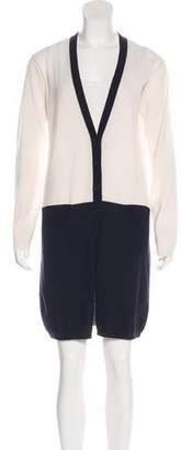 Tomas Maier Wool-Blend Mini Dress