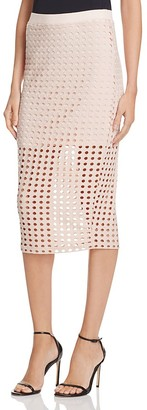T by Alexander Wang Circular Hole Jacquard Skirt $195 thestylecure.com