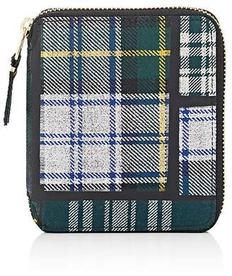 Comme des Garcons Men's Plaid Coin Pocket Zip-Around Wallet