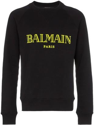Balmain logo crew neck sweatshirt