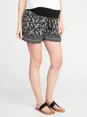"Old Navy Maternity Roll-Panel Soft Shorts (5"")"