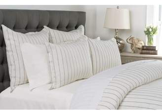 Villa Home Collection Monaco Pinstripe Linen Duvet Cover
