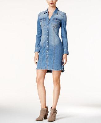 Inc International Concepts Denim Shirtdress, Created for Macy's $99.50 thestylecure.com