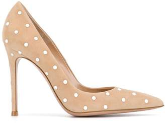 Gianvito Rossi pearl embellished pumps