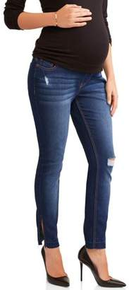 Liz Lange Maternity Over The Belly Skinny Jeans With Rip Details