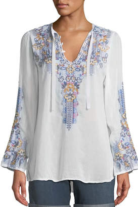 Johnny Was Tanya Embroidered Blouse