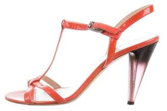 Marc by Marc Jacobs Marc Jacobs Patent Leather T-Strap Sandals
