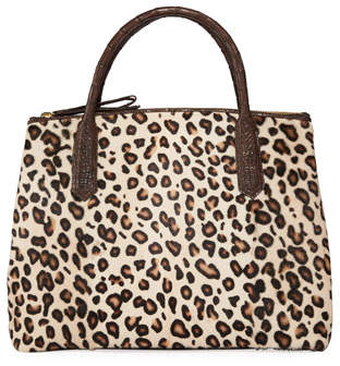 Nancy Gonzalez Nyx Medium Crocodile and Leopard Tote Bag
