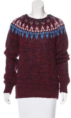 Dries Van Noten Patterned Wool-Blend Sweater