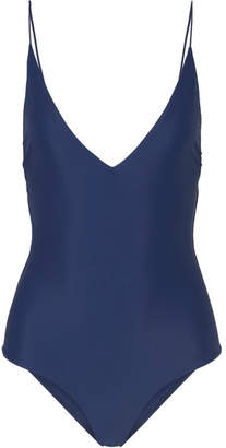 Dion Lee Fine Line Swimsuit - Navy