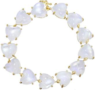 Irene Neuwirth Rainbow Moonstone Heart Bracelet - Yellow Gold