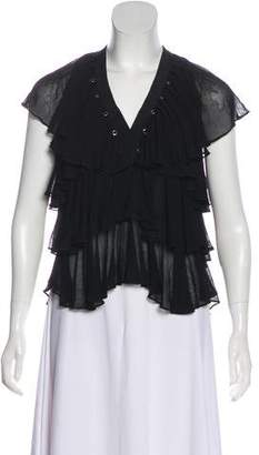 Givenchy Short Sleeve Tiered Top