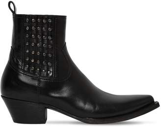 Saint Laurent Tex Houston Studded Leather Boots