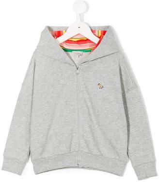 Paul Smith zebra patch zip hoodie