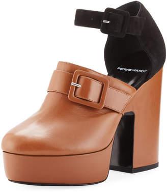 Pierre Hardy Crash Leather & Suede Platform Clog