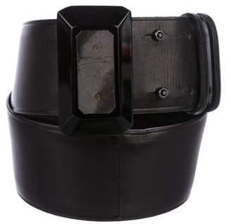 Lanvin Leather Wide Belt