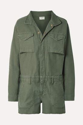 Frame Service Cotton-canvas Playsuit - Army green