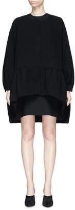 Co Batwing sleeve peplum coat